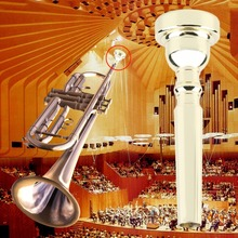 Professional Trumpet Mouthpiece for Bach 3C Size Gold Plated/Silver Plated Free Shupping(China (Mainland))