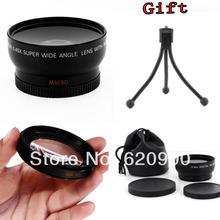 100% GUARANTEE 10X Super Wide angle 52mm fisheye macro  + Macro + Lens Bag for Nikon D5000 D5100 D3100 D7000 D3200 D80 D90+GIFT(China (Mainland))