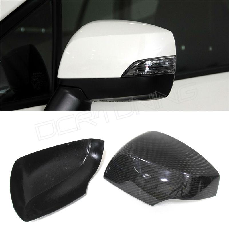 Add carbon fiber side mirror cover 2013 2014 Subaru Legacy