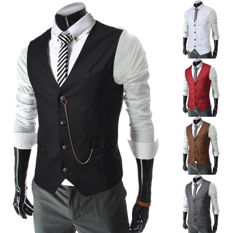 compra chalecos de vestir para hombres online al por mayor