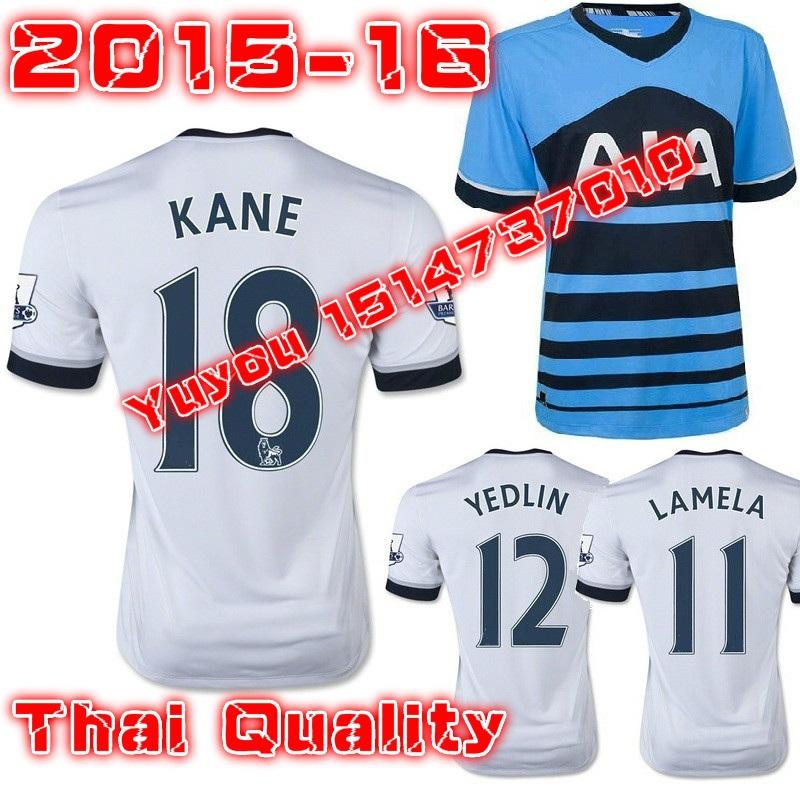 2016 Tottenham Home White Soccer Jersey 15 16 away blue Kane ERIKSEN Football Shirt Lamela camisetas de futbol(China (Mainland))