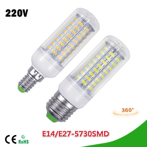 1Pcs 2015 Full NEW LED lamp E27 E14 3W 5W 7W 12W 15W 18W 20W 25W SMD 5730 Corn Bulb 220V Chandelier LEDs Candle light Spotlight(China (Mainland))