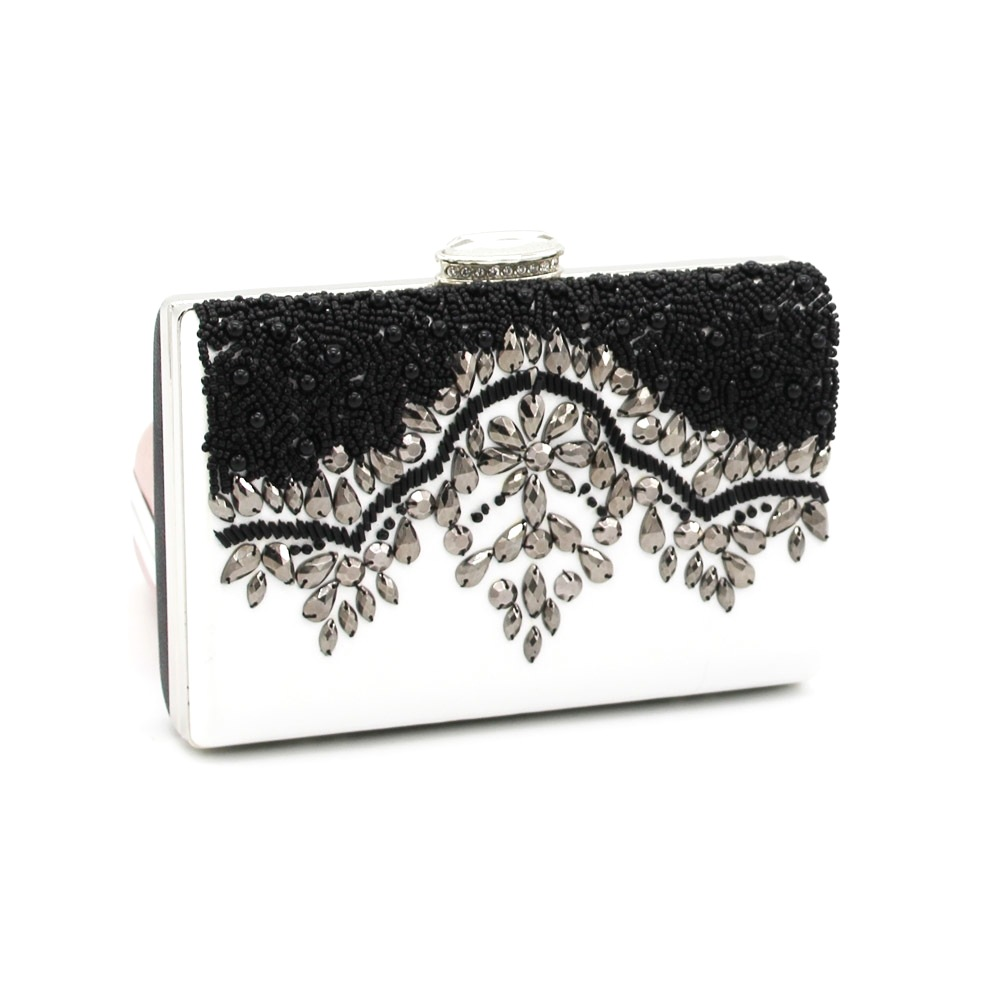 DHL free shipping White Women Diamonds Luxurious Top Evening Bags Clutch Messenger Shoulder Chain Handbags Purse Wallet A069(China (Mainland))