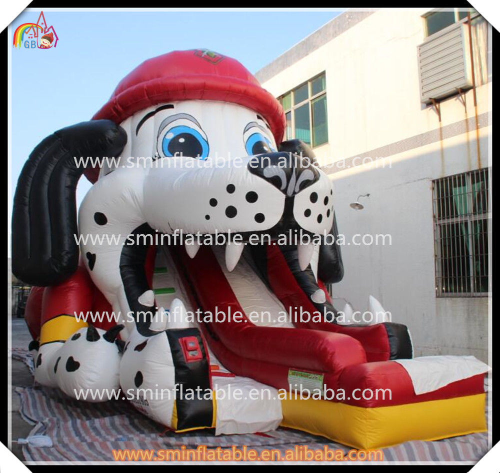 9x5.5x6.5m High Quality Inflatable Dog Slide Cartoon Character Funny Slide Inflatable Dry Slide(China (Mainland))