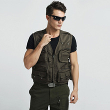 Hot Sale Gilet Breathable Water-resistant Waistcoat Casual Men Hunting Vest With Adjustable buckle Army Green Colete Masculino(China (Mainland))