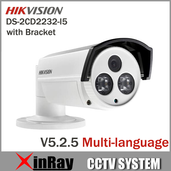 Newest Hikvision DS-2CD2232-I5 3MP Bullet IP Camera 50m Night Vision HD 1080P POE Power Network IP CCTV Camera Bracket as Gift(China (Mainland))
