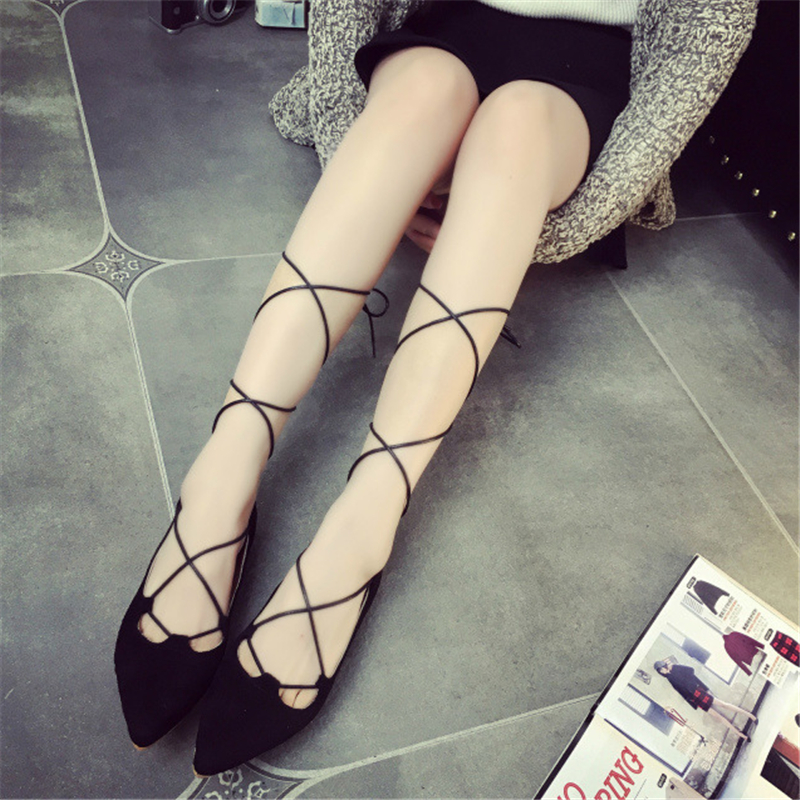 Roman shoes, ladies cross straps shoes, flat heels 2016 fashion sexy women pointed shallow mouth casual shoes