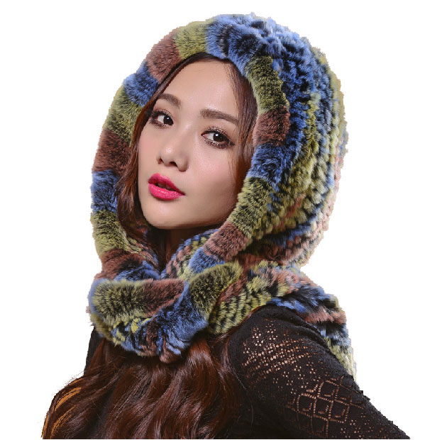 Scarf Hat Fur Women Winter Thick Snow Hats Superwarm Long Scarf Big Headwear Fashion Hoodie Headgear LQ11064Одежда и ак�е��уары<br><br><br>Aliexpress