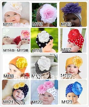 5pcs/lot New style wholesale free shipping fashion DOOMAGIC Baby hat, Doomagic infant hats with big flower,Infant flower hat