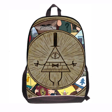 Fashion Russia Cartoon Backpack for Teenager Gravity Fall Map Design School Bags Kids Season 2 Bookbags Schoolbags for boys(China (Mainland))