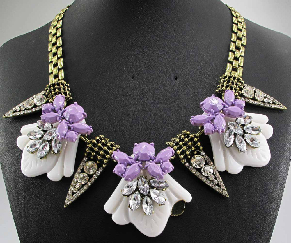 Newest Gorgeous Fashion Necklace Jewelry crystal ra Department Statement Necklace Women Choker ntiquated Necklaces Pendants(China (Mainland))