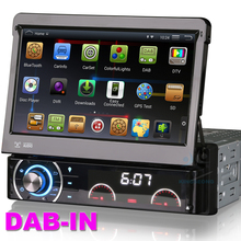 Quad core 1 din single din car pc android 4.4.4 autoradio dvd gps Touch Capacitive Screen bluetooth radio 3g wifi obd DAB-IN(China (Mainland))