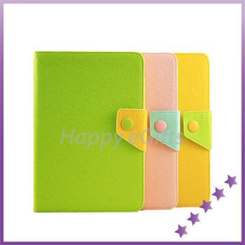 Contrast Color Belt Buckle Magnetic Smart Case Cover with Stand Case Cover for iPad Mini Holder Case(China (Mainland))