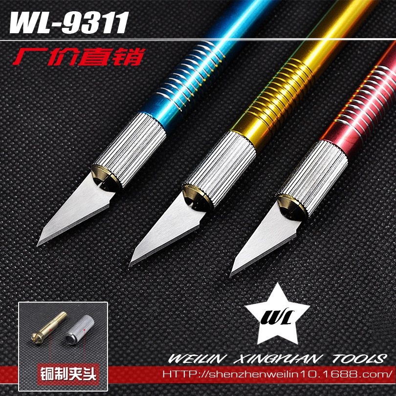 Handset manufacturers, wholesale metal foil cutter pen knife chisel knife cutter paper cutting board tool(China (Mainland))