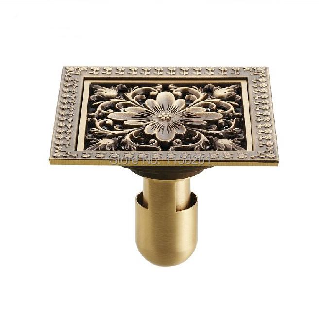 12*12cm New Arrival Antique Bronze finish Fashion design Euro Square floor drain shower drain bathroom furniture HJ-8702S(China (Mainland))