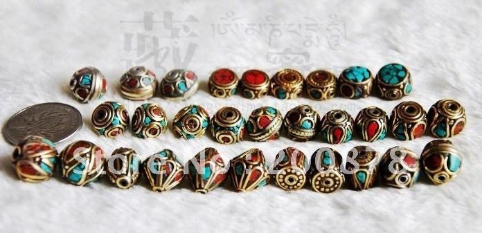 NBB203  Best offer Mix Wholesale Nepal metal loose beads,vintage spacers,10-13mm<br><br>Aliexpress
