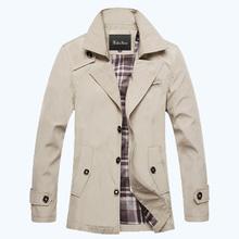 2015 New Stylish Trench Men's Outerwear Jackets Mens Winter Coats Mens Casaco Masculino De Inverno Free Shipping DL 75(China (Mainland))