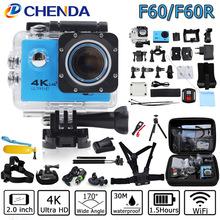 Buy Action Camera 4K/30FPS HuaGuo F60/F60R Allwinner V3 Wifi Ultra HD 16MP 30M Waterproof Mini Helmet Cam bike record Sport Camera for $36.33 in AliExpress store