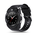 100 New Original V8 Smart Watch with SIM TF Card Slot Round IPS Bluetooth Connectivity Smartwatch