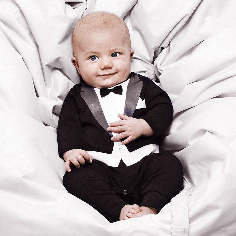 Tuxedo Baby Boys Rompers 2016 Spring Autumn New Arrival Baby Boy Rompers Set Cotton Blends Newborn Baby Clothes 2Color(China (Mainland))