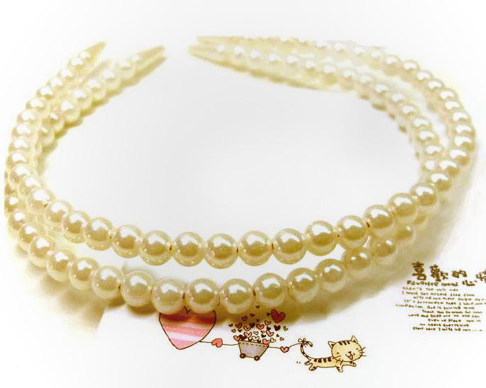Promotional fashion china manufacture hair accessory elegant exquisite pearl headbands(China (Mainland))