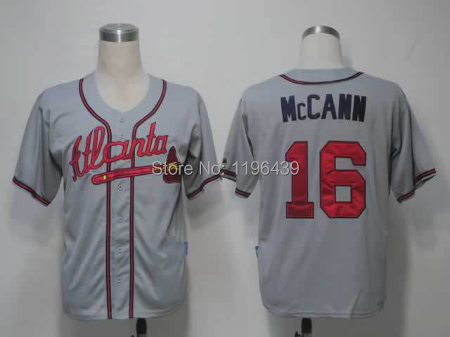 R #16 McCann Atlanta Braves#16 mccann c thirteen ways of looking