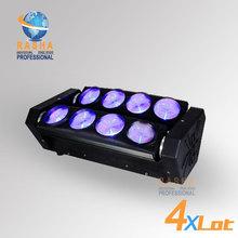 4X LOT New Arrival RASHA Dual Head 8pcs*10W White Color LED Pixel Moving Head Beam Bar Light,Moving Head Bar,Spider Effect Light(China (Mainland))