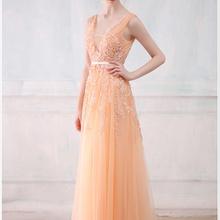 Robe De Soirée SSYFashion Lace Beading Sexy Backless Longos Vestidos de Noite Da Noiva Banquete Elegante do Assoalho-comprimento Do Partido do baile de Finalistas do Vestido(China)