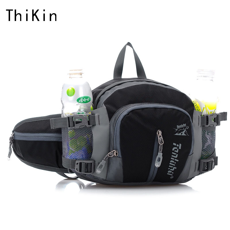 Women 5Use Way Travel Fanny Pack Nylon Waterproof Adjustable Strap Waist Men Bag Lightweight Water Bottle Waist Belt Bag