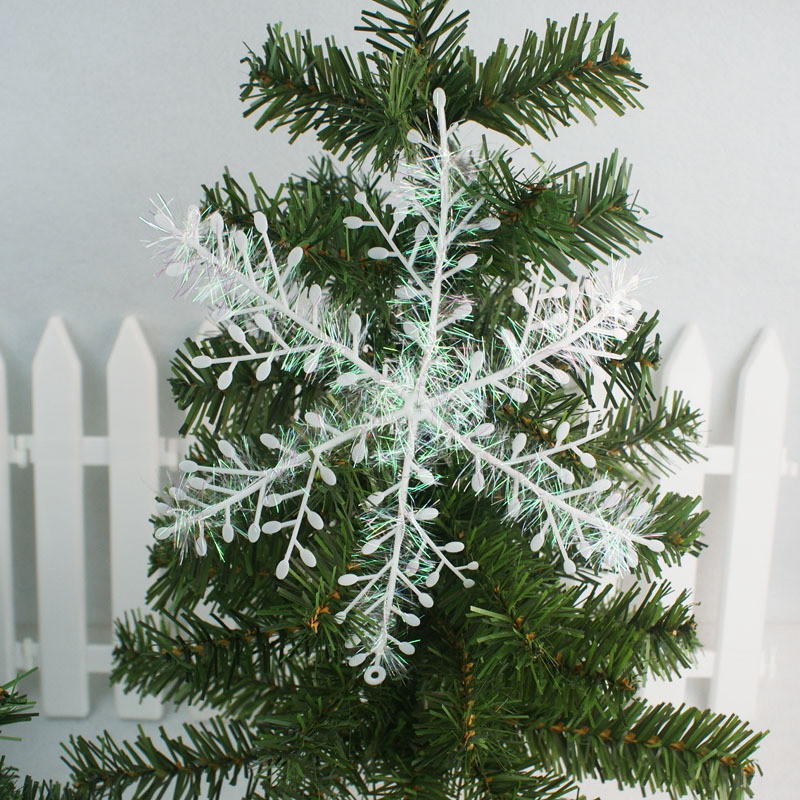 3pcs Snowflake Ornaments Christmas Holiday Festival Party Home Decor Christmas tree decoration