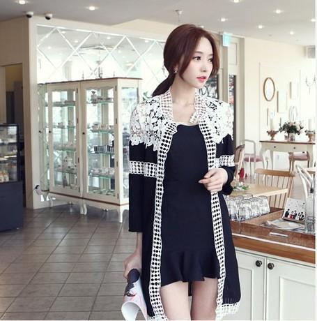 C13*2014 women fashion Autumn plus size Long sleeved Lace cardigans coats trico camisola tricotado blusas de inverno Jackets - Fashion Mall For Family store