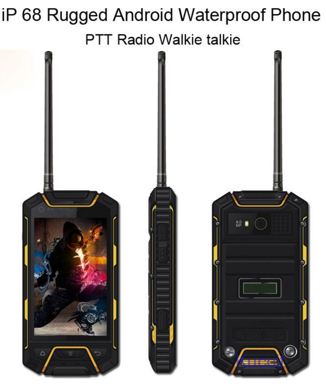 original MTK6572 Android PTT Radio Walkie talkie two way radio Dustproof shockproof IP68 rugged Waterproof mobile phone 3G GPS(China (Mainland))