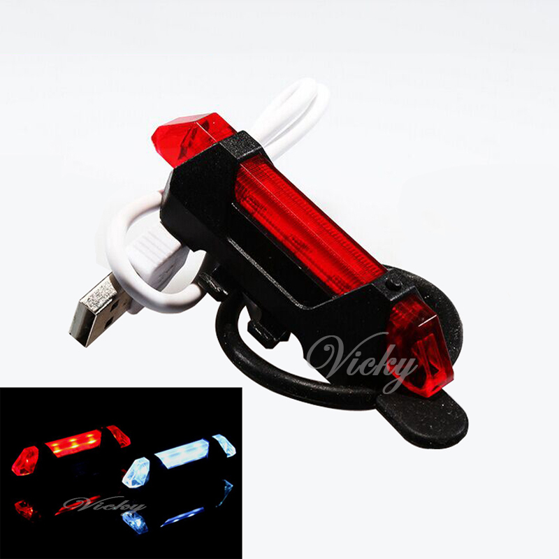 2015 Hight Quality Waterproof USB Rechargeable Bicycle Super Bright 3LED light Bike Safety Red Rear Warning Cycling Caution Lamp(China (Mainland))