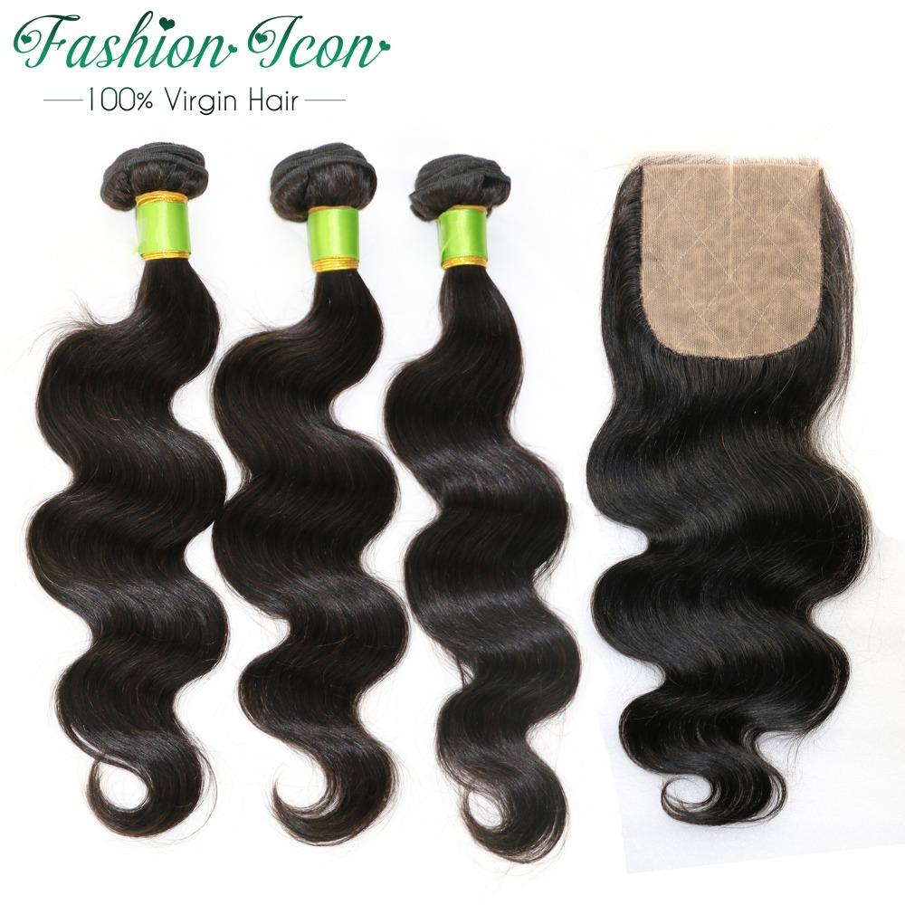 Malaysian Virgin Hair Body Wave 3 Bundles With Silk Closure Free/Middle/Three Part,7A Cheap Hair Bundels With Silk Hair Closures<br><br>Aliexpress