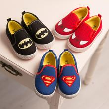 New Fashion Girls Boys Shoes Sneakers Superman Spiderman Children Casual Canvas Shoes Christmas/Halloween (Toddler/Little Kid)(China (Mainland))