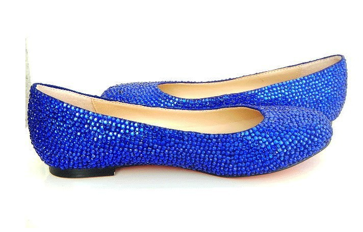 blue flat shoes royal blue crystal flat shoes blue wedding flats