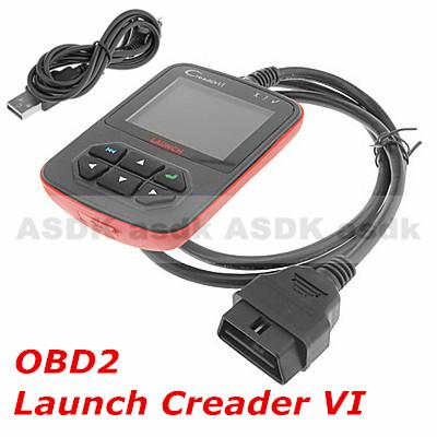 HOT!! Diagnostic Tool, Creader VI OBD2 AUTO SCANNER, Creader 6 code reader CREADER VI, free shipping(China (Mainland))