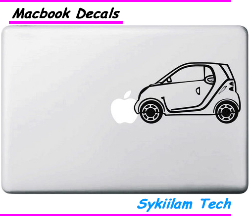 Mini Car for apple Logo Creative Sticker for Macbook Skin Air 11 13 Pro 13 15 17 Retina Laptop Computer Vinyl Decoration Decal(China (Mainland))