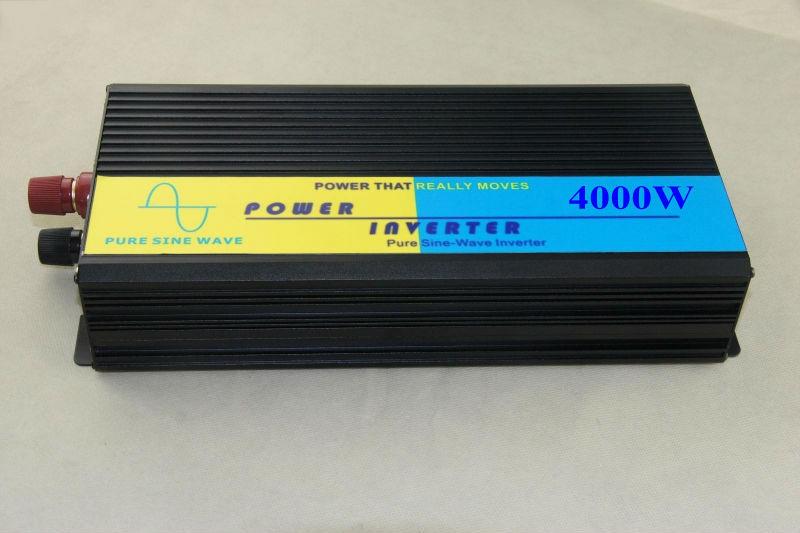high quality 4000W Pure Sine Wave Power Inverter 12VDC to 220VAC dc 12v to ac 220v Power inverter Car Inverter Converter(China (Mainland))