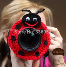 Flower butterfly circleof style camera case handmade knitted lens set child props
