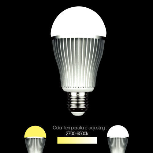 Brand New 2.4G Wireless E27 6W 9W 2700-6500K Smart LED Dual White Cool/Warm White Bulb MiLight CCT Light Mi.light Lamp(China (Mainland))