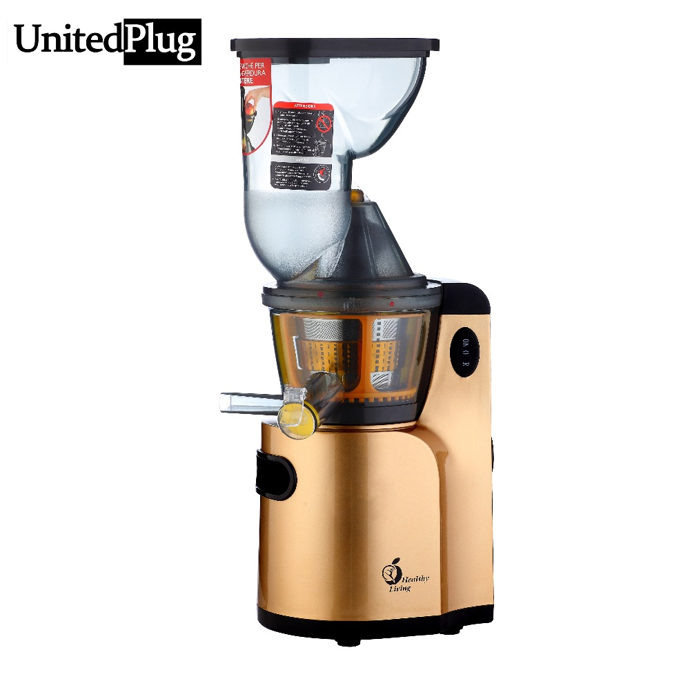 Slow Juicer Vs Food Processor : UnitedPlug big mouth electric Juicer automatic orange juice machine electric slow juicer multi ...