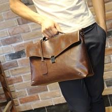 fashion briefcase men messenger bags horse leather men handbags ancient Laptop men bag(China (Mainland))
