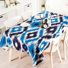 Buy Country Blue Geometry Cloth Rectangle Tea Table Round Table Cloth Tablecloth Cotton Green Pastoral Tea Table Cloth Cover for $22.99 in AliExpress store