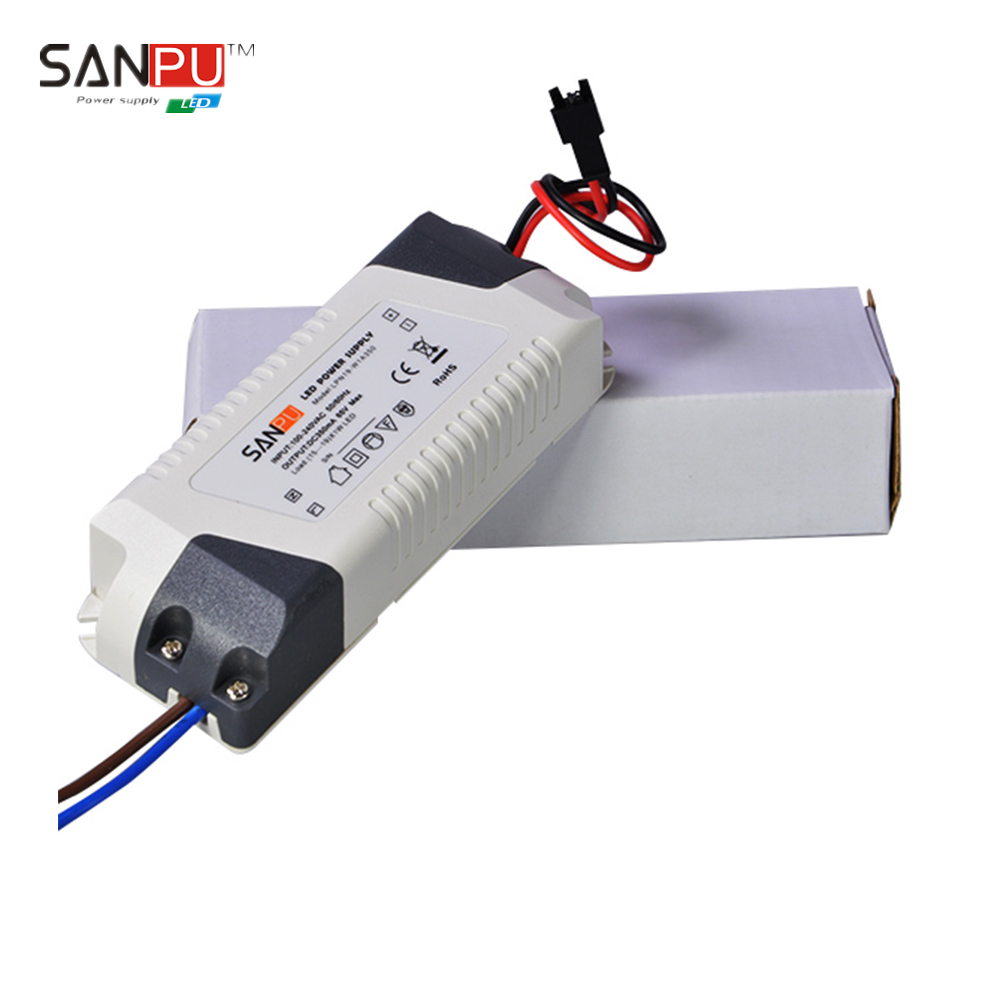 SANPU SMPS LED Driver 20 W 350mA Constant Current Switching Power Supply 110V 220V AC to DC Lighting Transformer Indoor Plastic(China (Mainland))