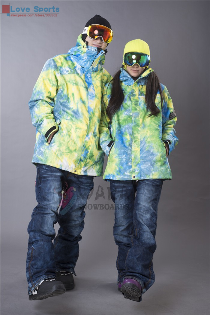 Newest High Quality Winter Waterproof Men and Women Snowboarding Skiing Coats Couple Jackets(China (Mainland))