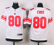 New York Giants #80 Victor Cruz Elite White and Royal Blue Team Color High quality free shipping(China (Mainland))