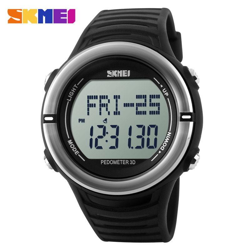 SKMEI Sport Watches Heart Rate Monitor Watch Men Digital LED Pedometer Watch Step Counter Women ...
