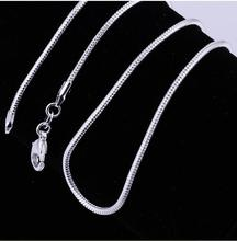 """10PC Fine Jewelry Findings 16""""-24"""" Necklace Chains  Silver Plated1MM Snake Chain+Lobeter Clasp Jewellery Sets For Pendant(China (Mainland))"""