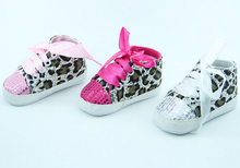 2015 Fashion Newborn/Infant/Toddler Girl Sneakers Lace/Bling/Leopard/Pink/Rose/White First Walker 0-24Month Infantil Sandalias(China (Mainland))